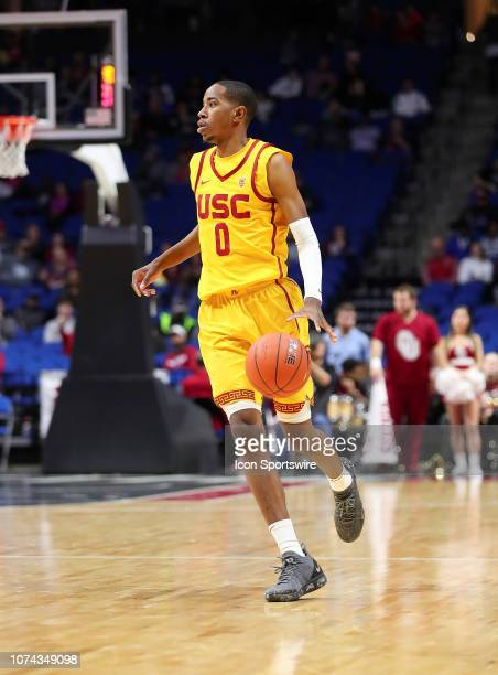 Southern California Trojans Guard Shaqquan Aaron during a college basketball game between the Oklahoma Sooners and the Southern California Trojans on...