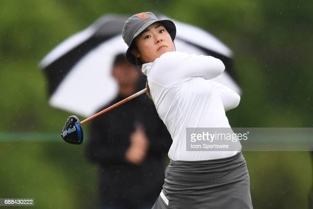 Southern California Trojans' Robynn Ree tees off at the first hole during the NCAA Division 1 Women's golf championship semifinals on May 23 at Rich...