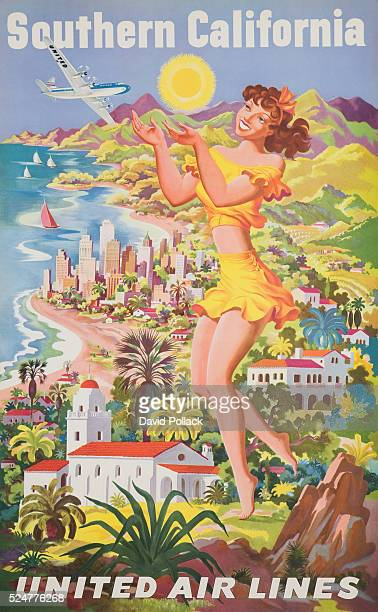 Southern California United Air Lines Poster