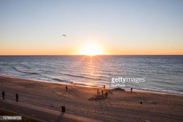 Southern Californians enjoy New Years Day 2019 in the costal city of Redondo Beach California USA Jan 1st 2019 Credit John Fredricks