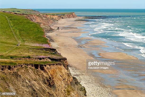 Southern coastline landscape at the Isle of Wight, South England.