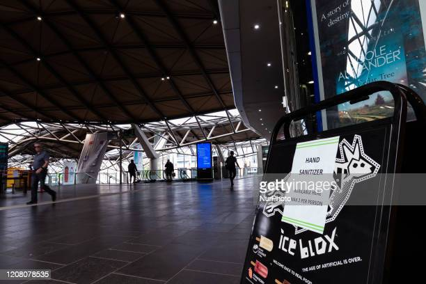 Southern Cross Railway Station is seen empty during peak hour as the coronavirus continues to rapidly spread in Melbourne Australia on March 23 2020...