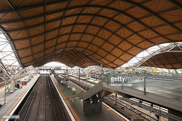 Southern Cross station is seen empty due to strike action by RTBU members on September 4 2015 in Melbourne Australia The strike over pay and...