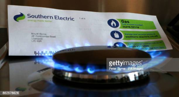 A Southern Electric gas bill and a gas stove burner as the Government has unveiled a package of reforms in the energy market including the prospect...