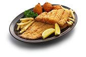 southern fried fish plate