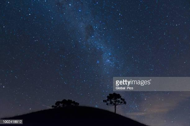 galáxia do hemisfério sul - noite - fotografias e filmes do acervo