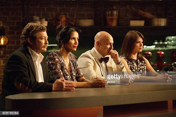 TOP CHEF 'Southern Hospitality' Episode 1402 Pictured Frank Lee Padma Lakshmi Tom Colicchio Gail Simmons