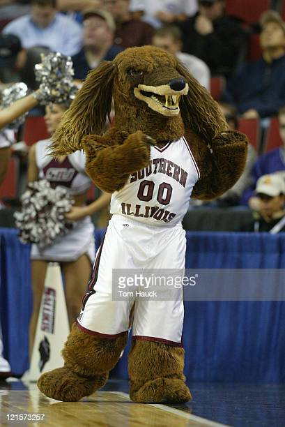 Southern Illinois Salukis Mascot Alabama defeats Southern Illinois 6564 during the first round of the 2004 Men's NCAA Basketball Tournament at Key...