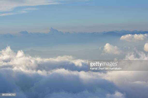 Southern Japanese Alps from Mt Fuji