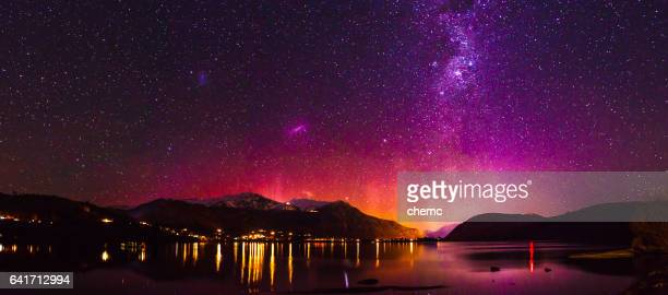 southern lights - otago region stock pictures, royalty-free photos & images