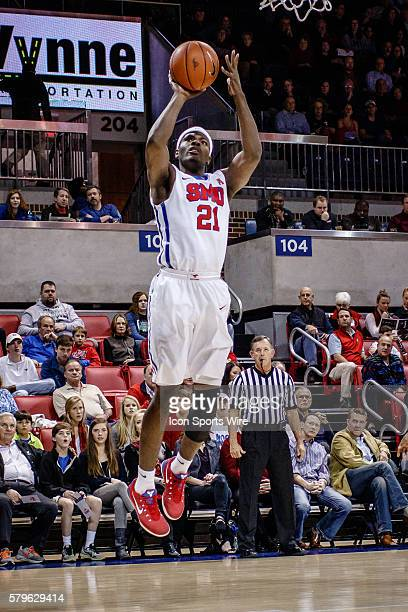 Southern Methodist Mustangs guard Ben Emelogu during the NCAA Basketball game between the Texas Southern Tigers and the SMU Mustangs played at Moody...