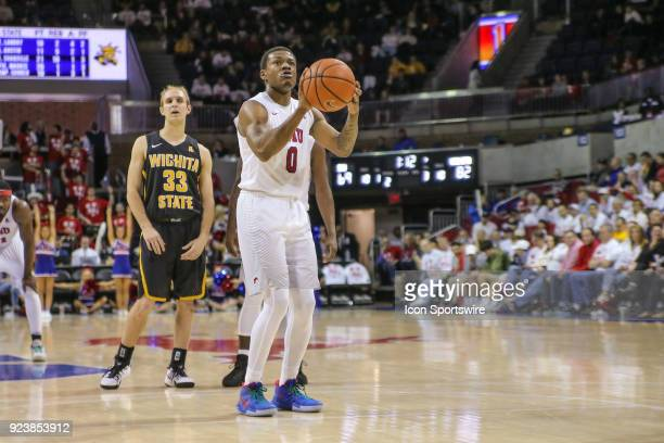 Southern Methodist Mustangs guard Jahmal McMurray shoots a free throw during the game between Wichita State and SMU on February 24 at Moody Coliseum...