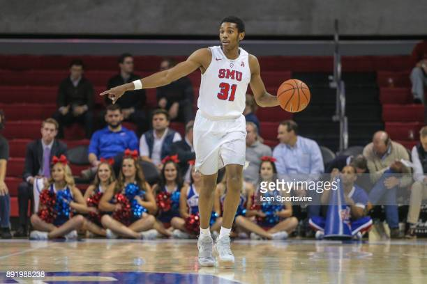Southern Methodist Mustangs guard Jimmy Whitt sets the play during the game between SMU and New Orleans on December 13 2017 at Moody Coliseum in...