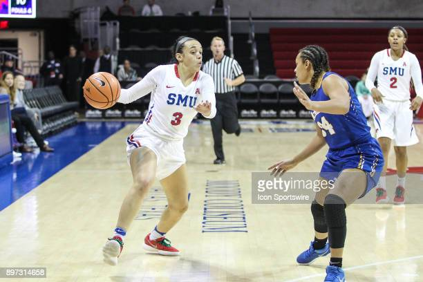 Southern Methodist Mustangs guard McKenzie Adams goes to the basket during the women's game between SMU and McNeese State on December 22 at Moody...