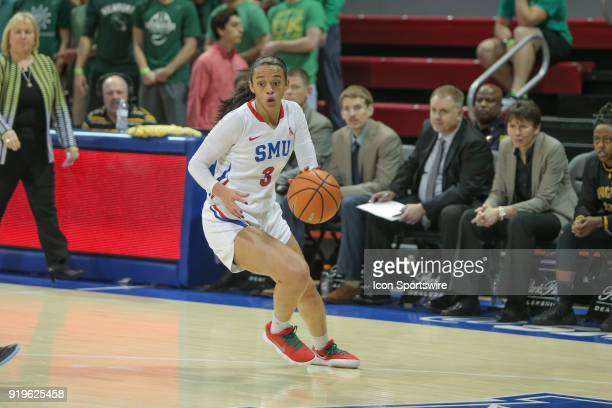 Southern Methodist Mustangs guard McKenzie Adams goes to the basket during the game between SMU and Wichita State on February 17 2018 at Moody...