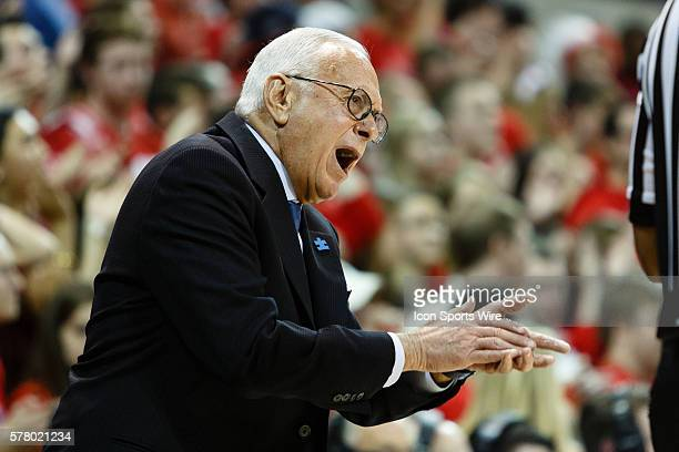 Southern Methodist Mustangs head coach Larry Brown during the NCAA men's basketball game between the University of Connecticut Huskies and the...
