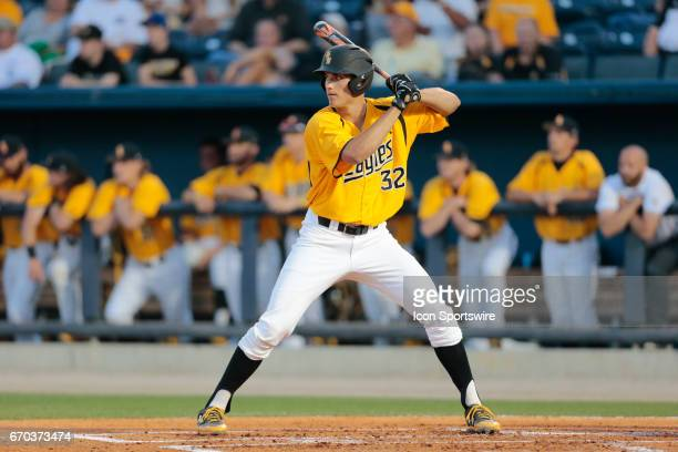 Southern Miss Golden Eagles Matt Wallner during a college baseball game between Southern Miss and Nicholls State on April 18 2017 at MGM Park in...
