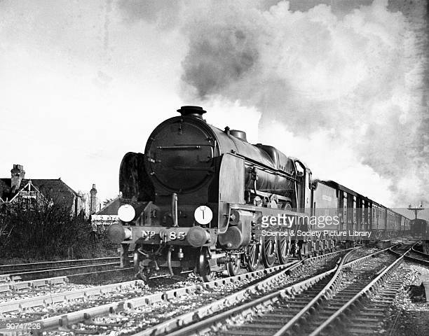 Southern Railway 460 steam locomotive No 850 'Lord Nelson' passing Shorncliffe with an 'up' Boulogne boat express bound for Victoria station in...