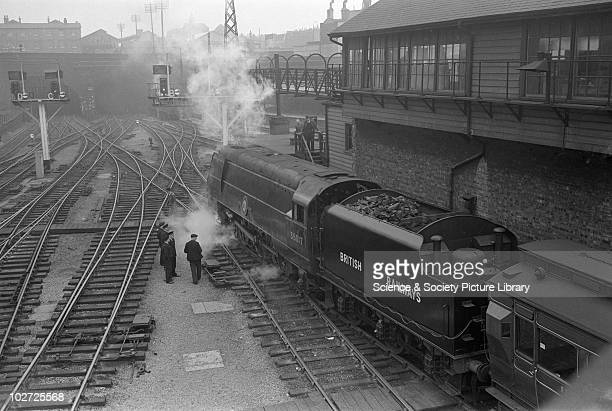 Southern Railway MN Pacific no 35017 'Belgian Marine' at King's Cross 25th May 1948
