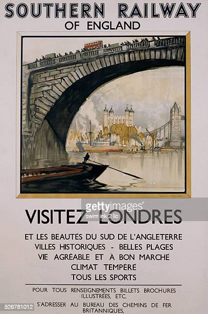 Southern Railway of England Vistez Londres Travel Poster by Donald Maxwell