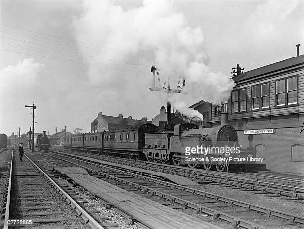 Southern Railway Stirling F class locomotive no 194 On a local train at Folkestone Built in Ashford Kent 1889