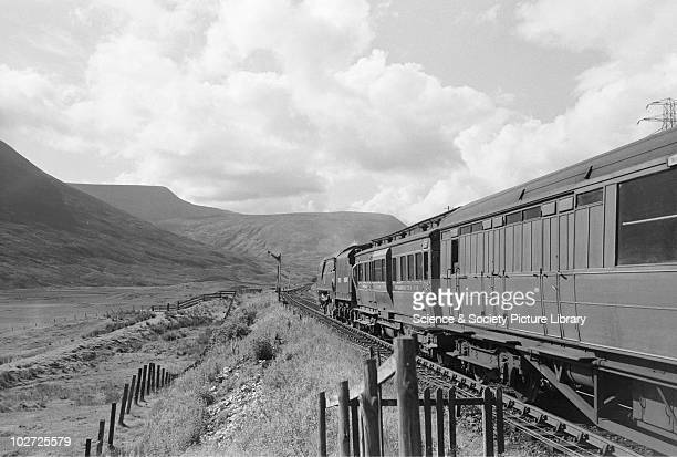 Southern Railway West Country Pacific no 34004 Yeovil' at Dalnaspidal on 400pm Inverness express from Perth 15th July 1948
