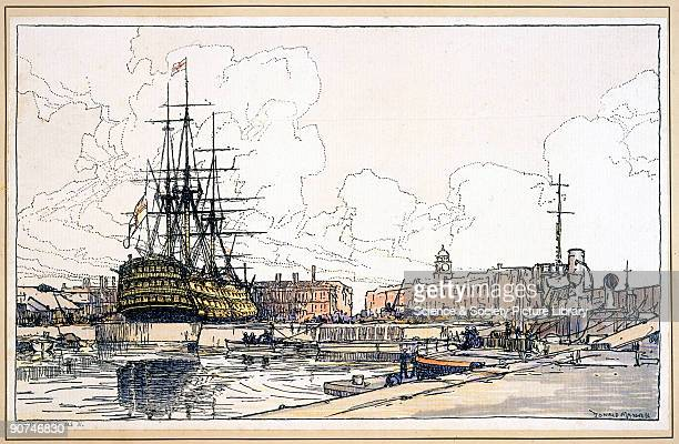 Southern Railways carriage print by Donald Maxwell Possibly the most famous warship in the history of the Royal Navy HMS �Victory� was the flagship...