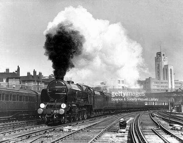Southern Railway's 'Lord Anson' Lord Nelson Class steam locomotive No 861 leaves Victoria with the Golden Arrow train Photograph by Bishop Eric...