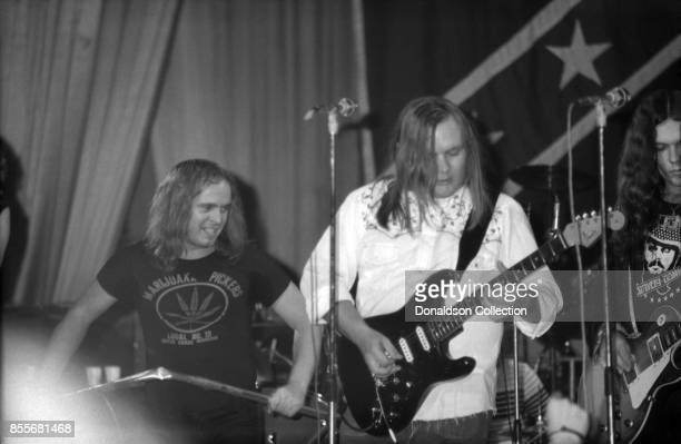 Southern rock group Lynyrd Skynyrd perform at the Dome on November 28 1974 in Brighton England