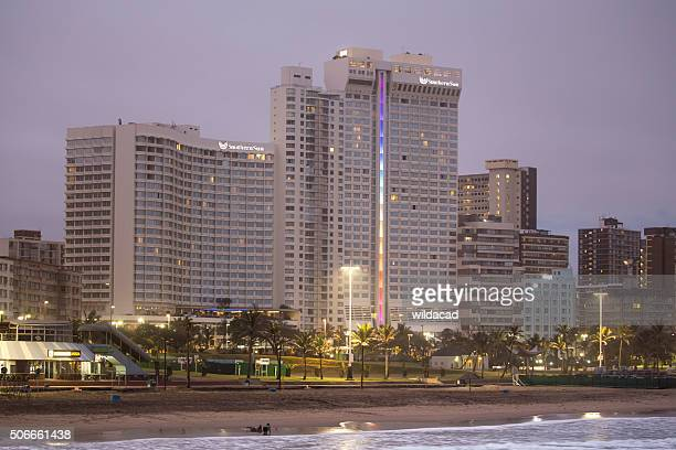 southern sun hotel in durban - durban beach stock photos and pictures