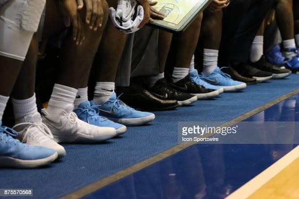 Southern University Jaguars shoes during the 1st half of the Southern University Jaguars versus Duke Blue Devils on November 17 at Cameron Indoor...