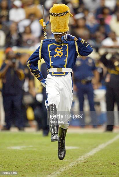 Southern University marching band drum major gets the crowd going before their half time performance.The Grambling State Tigers defeated the Southern...