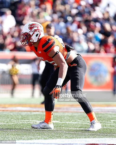 Southern Utah Safety Miles Killebrew of the North Team during the 2016 Resse's Senior Bowl at Ladd-Peebles Stadium on January 30, 2016 in Mobile,...