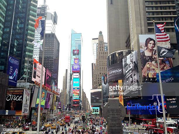 CONTENT] Southern view of Times Square New York City