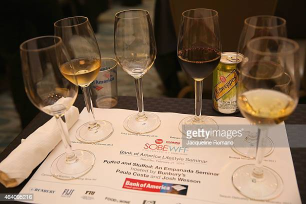 Southern Wine and Spirits of Florida and Fiji water display at the Bank of America Lifestyle Seminar Puffed and Stuffed An Empanada Seminar hosted by...
