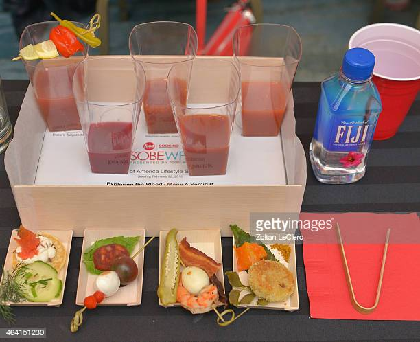 Southern Wine and Spirits of Florida and Fiji water on display at Bank Of America Lifestyle Seminar Exploring the Bloody Mary hosted by Francesco...