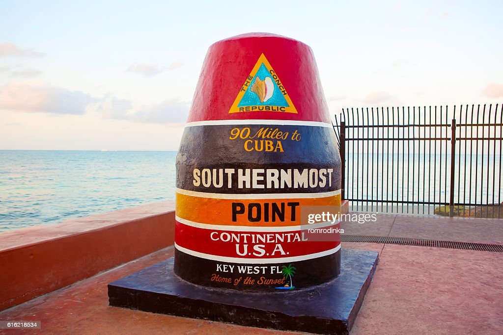 Southernmost point in continental USA in Key West : Bildbanksbilder