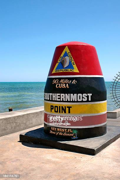 USA Southernmost Point Monument and Key West Tourist Attraction