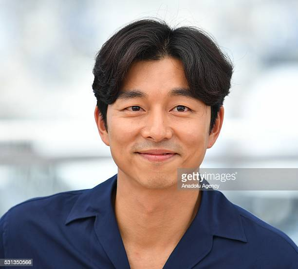 SouthKorean actor Gong Yoo poses during the photocall for the film 'BuSanHaeng ' at the 69th annual Cannes Film Festival in Cannes on May 14 2016