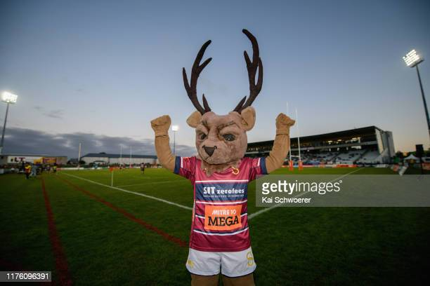 Southland mascot SteveO the Stag poses during the round 7 Mitre 10 Cup match between Southland and Counties Manukau at Rugby Park on September 21...