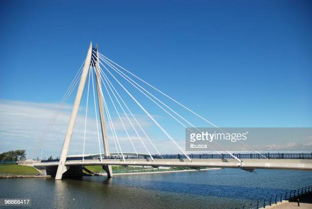 southport modern bridge - southport maine stock pictures, royalty-free photos & images