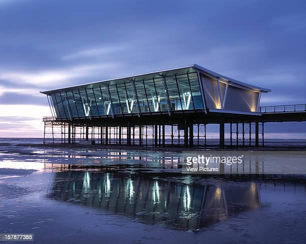 Southport Pier Pavilion, Southport, United Kingdom, Architect Shed Km, Southport Pier Pavilion Overall Shot - Dusk With Lights On.