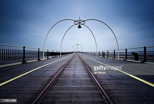 southport pier - southport england stock pictures, royalty-free photos & images