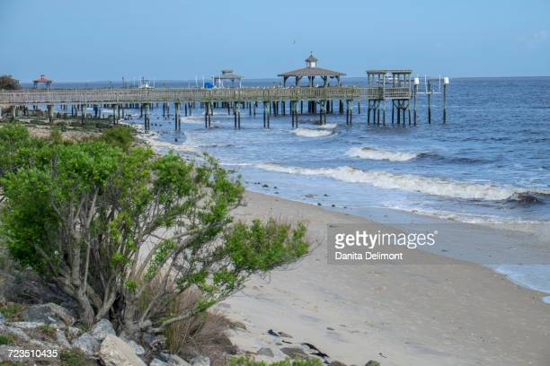 southport pier, southport, north carolina, usa - southport north carolina ストックフォトと画像
