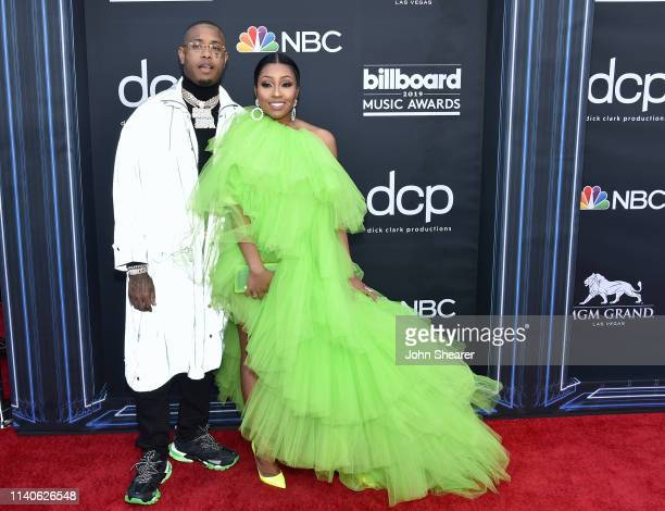 Southside and Yung Miami of City Girls attend the 2019 Billboard Music Awards at MGM Grand Garden Arena on May 1 2019 in Las Vegas Nevada