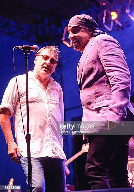 Southside Johnny and Little Steven perform at The Stone Pony Summerstage on July 2 2011 in Asbury Park New Jersey