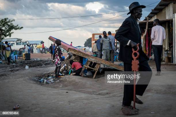 South-Sudan, Mingkaman in Lake State. Daily life around the main market of the village which used to be a small rural community now becoming a...