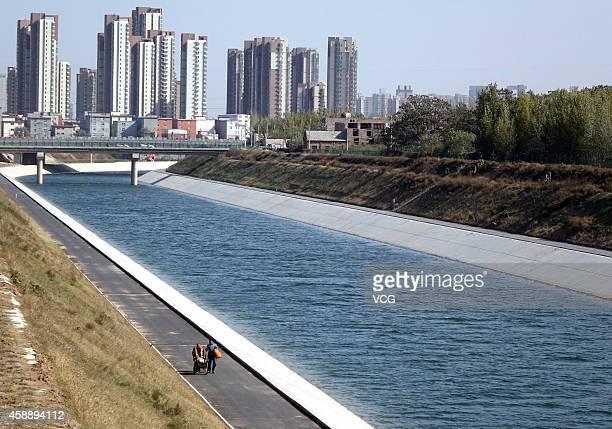 South-to-North water diversion Zhengzhou part is seen on November 12, 2014 in Zhengzhou, Henan province of China. South-to-North water diversion...