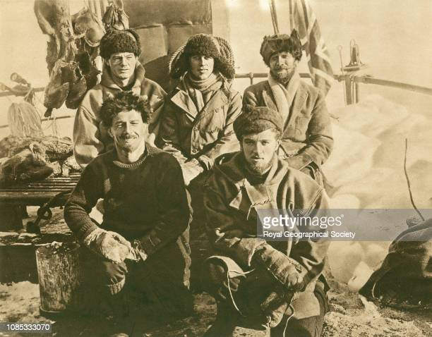 Southward on the Quest, G.H. Ross, H.J. Argles, S.S. Young, A.J. Kerr and C.E. Smith, Shackleton-Rowett Quest 1921-1922 Expedition, Antarctica.