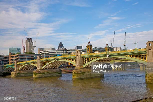 Southwark Bridge over the River Thames, London, United Kingdom